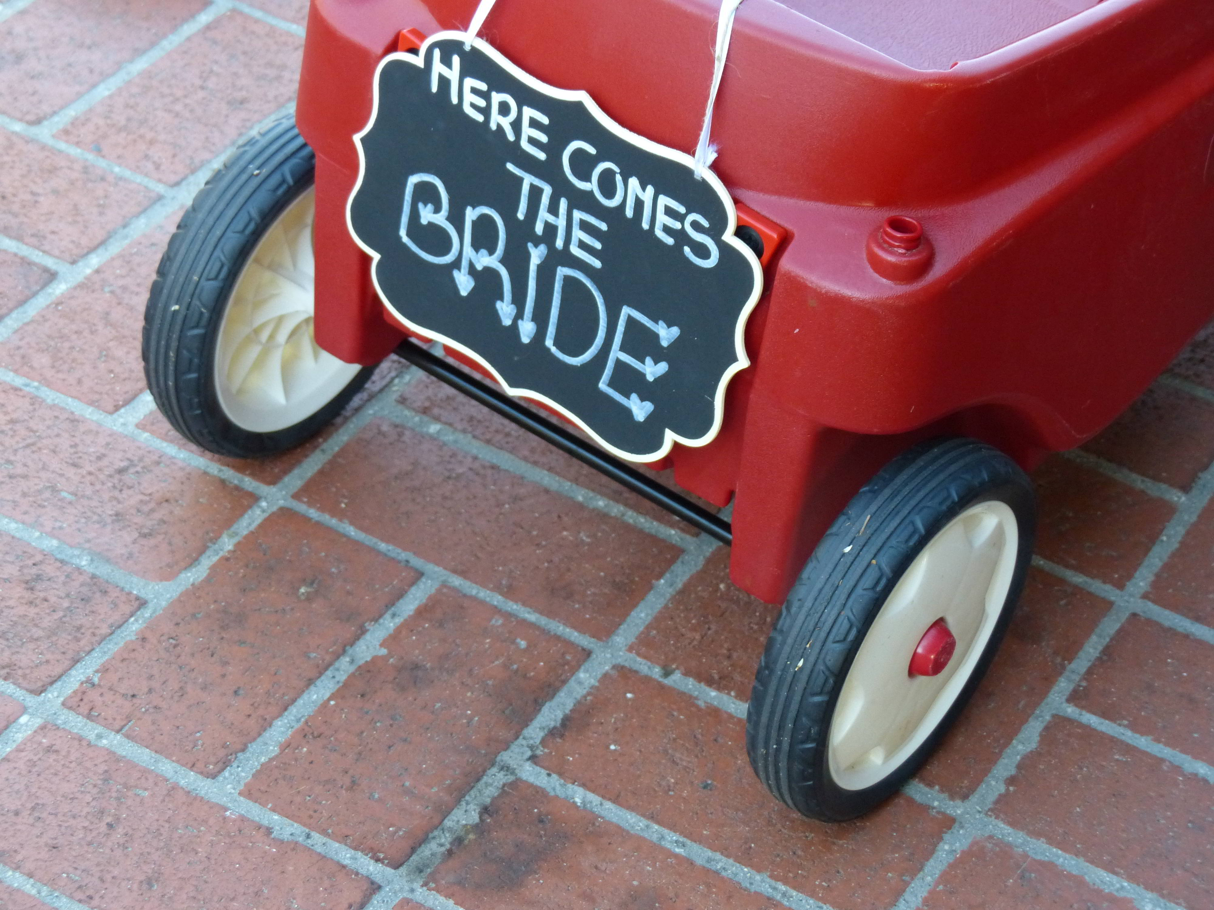 Ring bearer wagon pulling his little brother